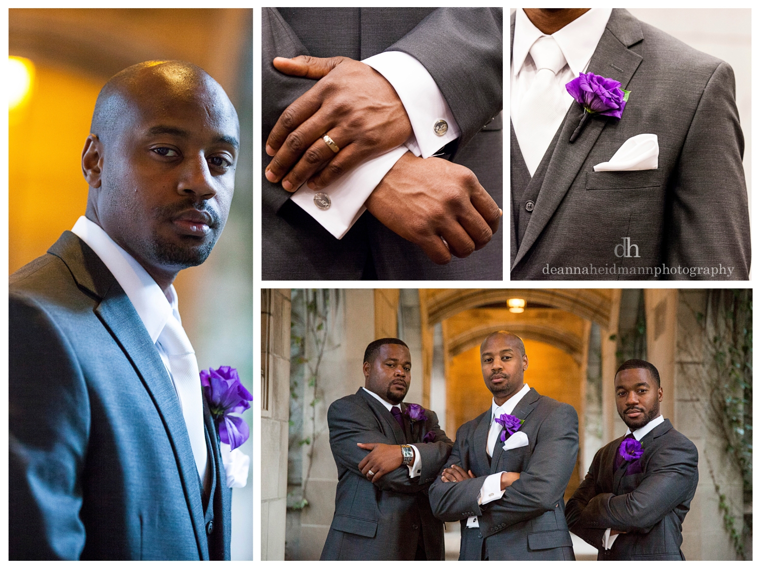 13 Collage groom details