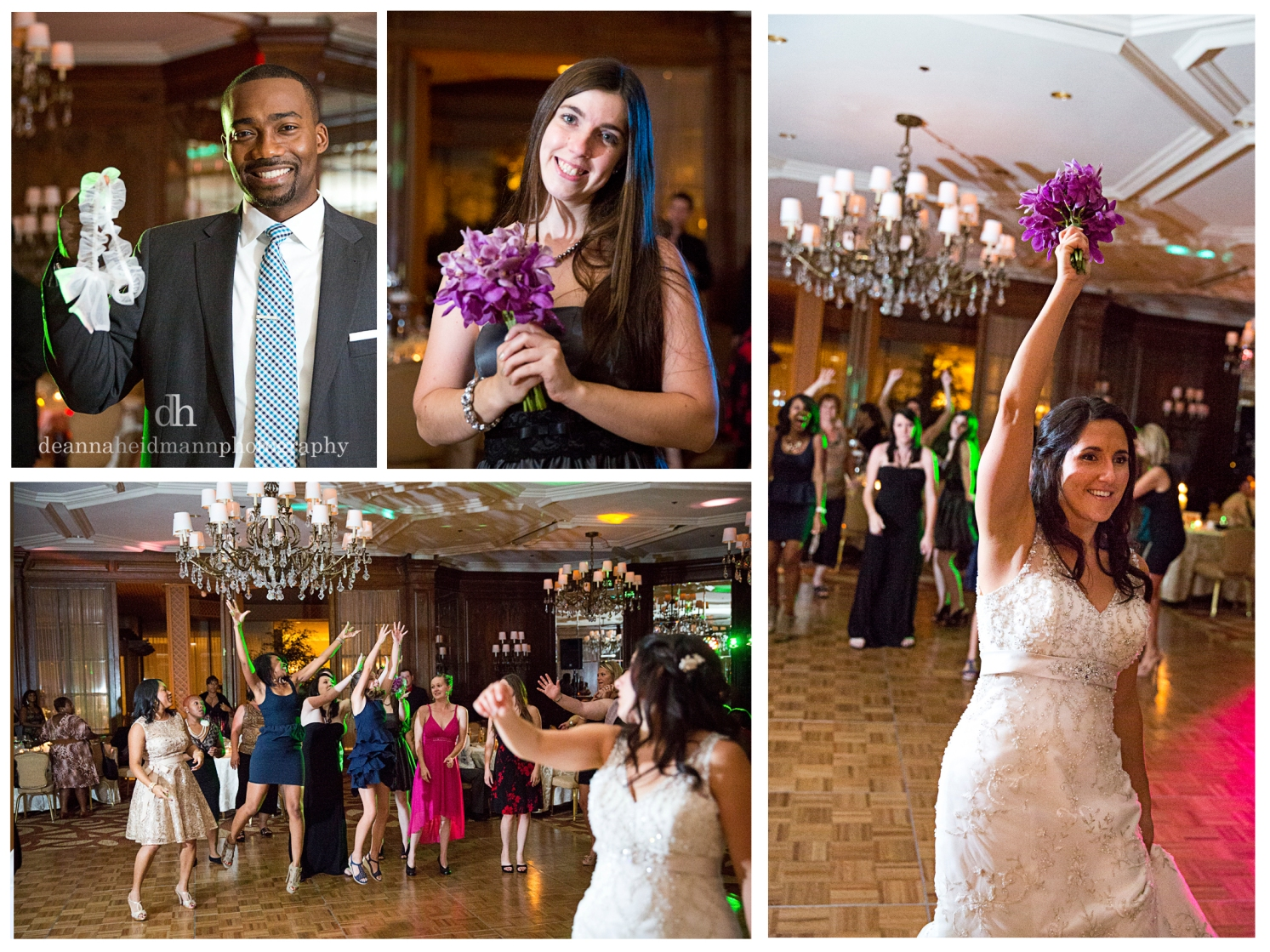 collage garter toss